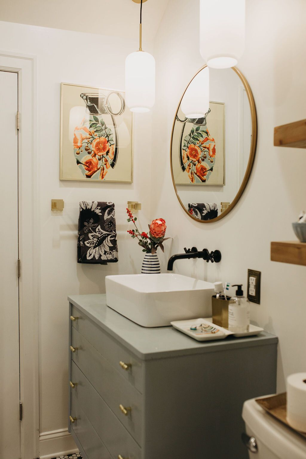 Photo of Modern Eclectic Bungalow Bathroom Renovation: Before + After — Gathered Living