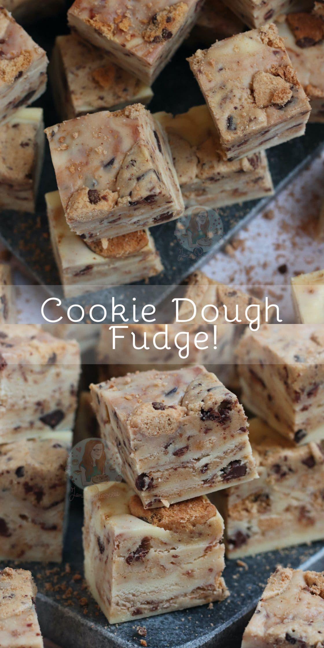 Cookie Dough Fudge Jane S Patisserie In 2020 Cookie Dough Fudge Fun Baking Recipes Homemade Fudge