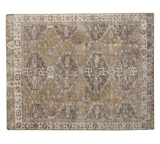 Nora Persian Style Rug Neutral Pottery Barn 764 For 8x10