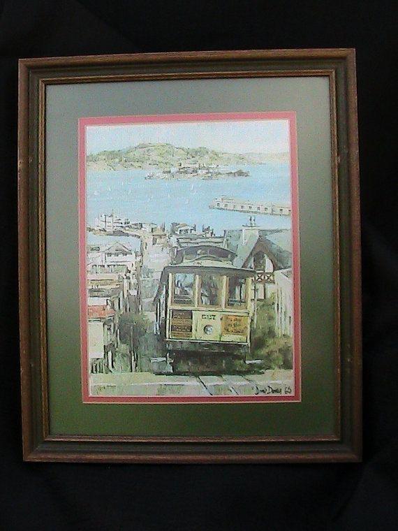 Cable Car, San Francisco, Don Davey Vintage 1968 Print, Framed home ...