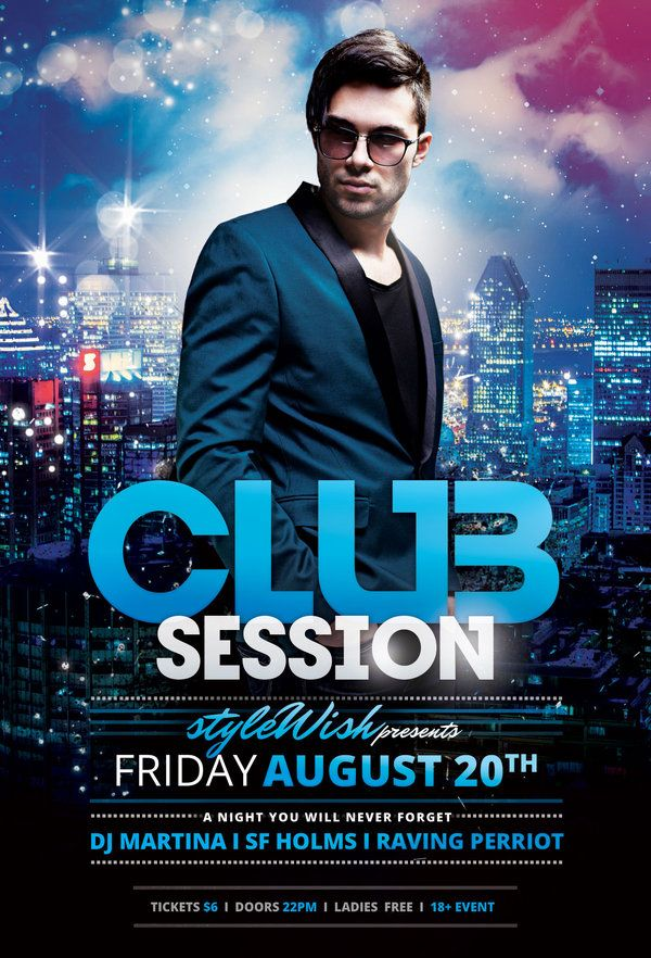 Club Session Flyer  Psd Templates Template And Party Flyer