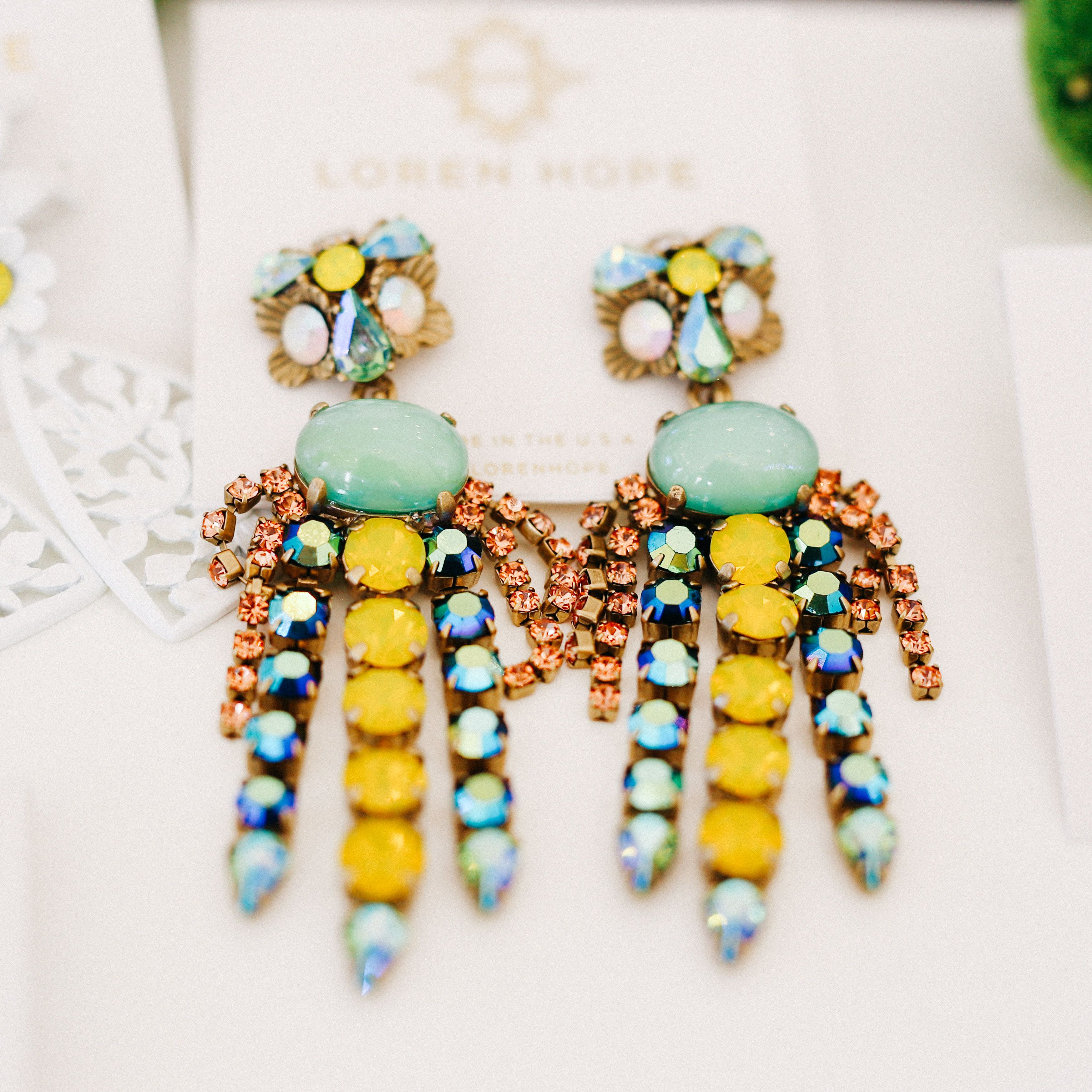 8e19bd76c Loren Hope Flora Chandelier Statement Earring | The Jewels | Jewelry ...