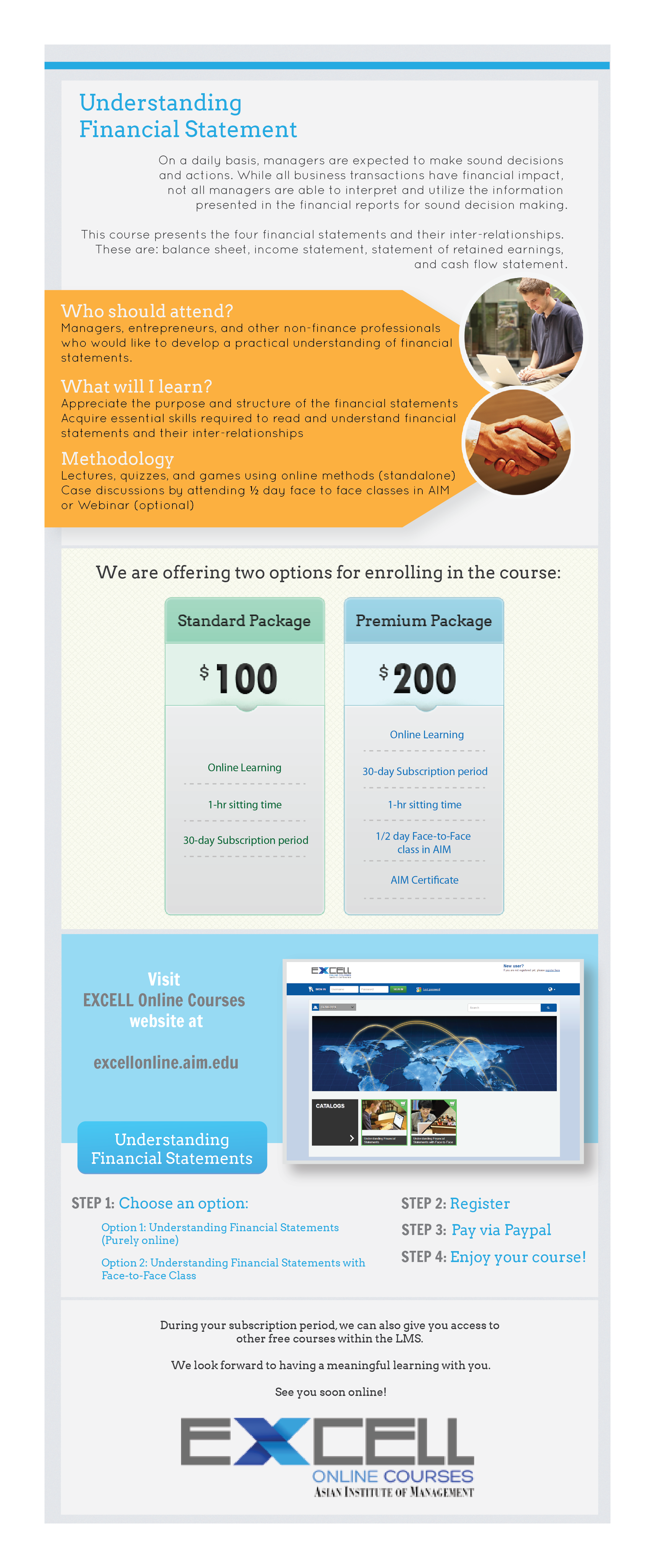 Excell Online Courses Is Now Offering Understanding Financial