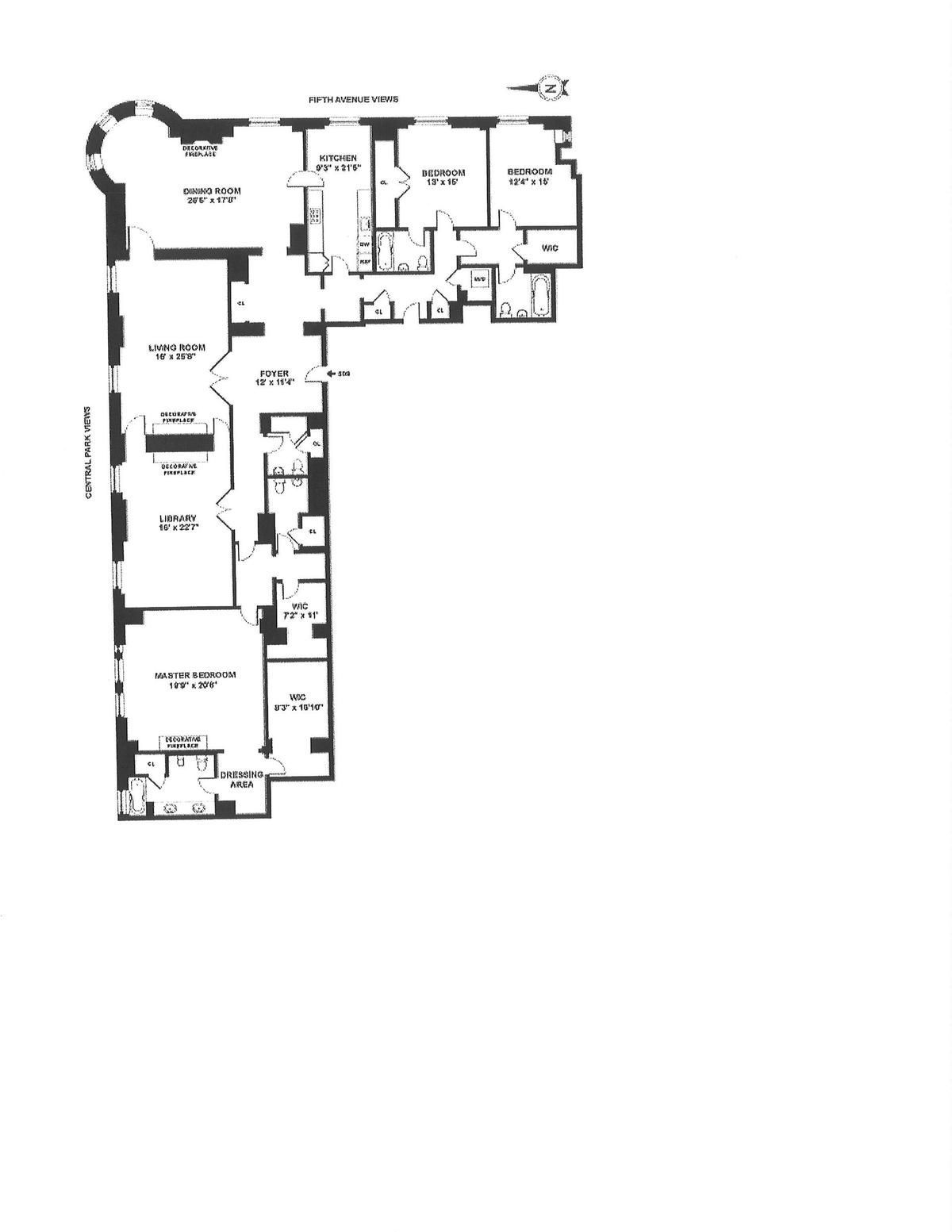 The Plaza S Historic Astor Suite Hits The Market Asking 39 5m Apartment Floor Plans Floor Plan Layout Home Building Design