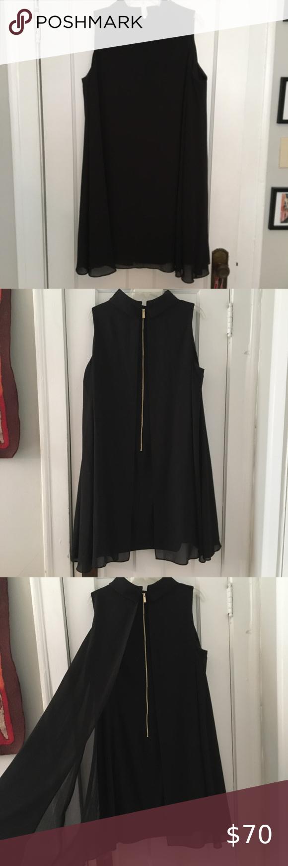 Vince Camuto Black Cape Effect Shift Dress 18w This Chic Short Black Polyester Shift Dress Has A Flattering Cape E Shift Dress Clothes Design Colorful Dresses [ 1740 x 580 Pixel ]