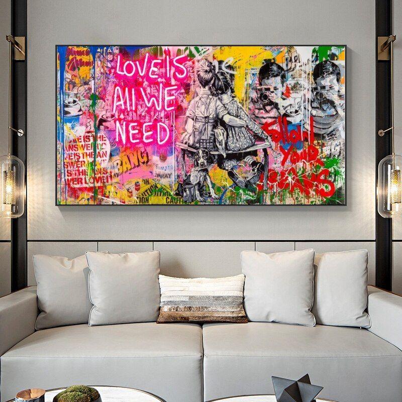 Home Decor Wall Street Art//Canvas Print Poster Wall Art
