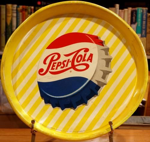 Pepsi Yellow Strips Multi National Serving Tray From The