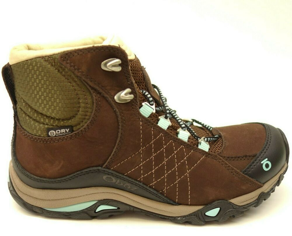 198bc3f9ae6 Oboz Sapphire Mid BDry Sz 6 Waterproof Leather Outdoor Hiking Womens ...