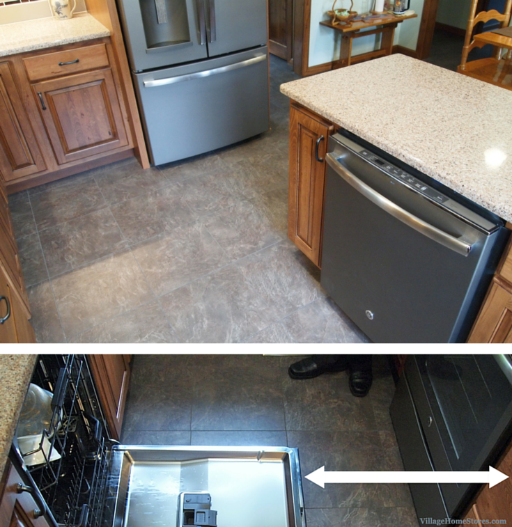 Allowing plenty of clearance for your #dishwasher and #oven doors to open is key when working on your #kitchen layout. | VillageHomeStores.com & Allowing plenty of clearance for your #dishwasher and #oven doors to ...