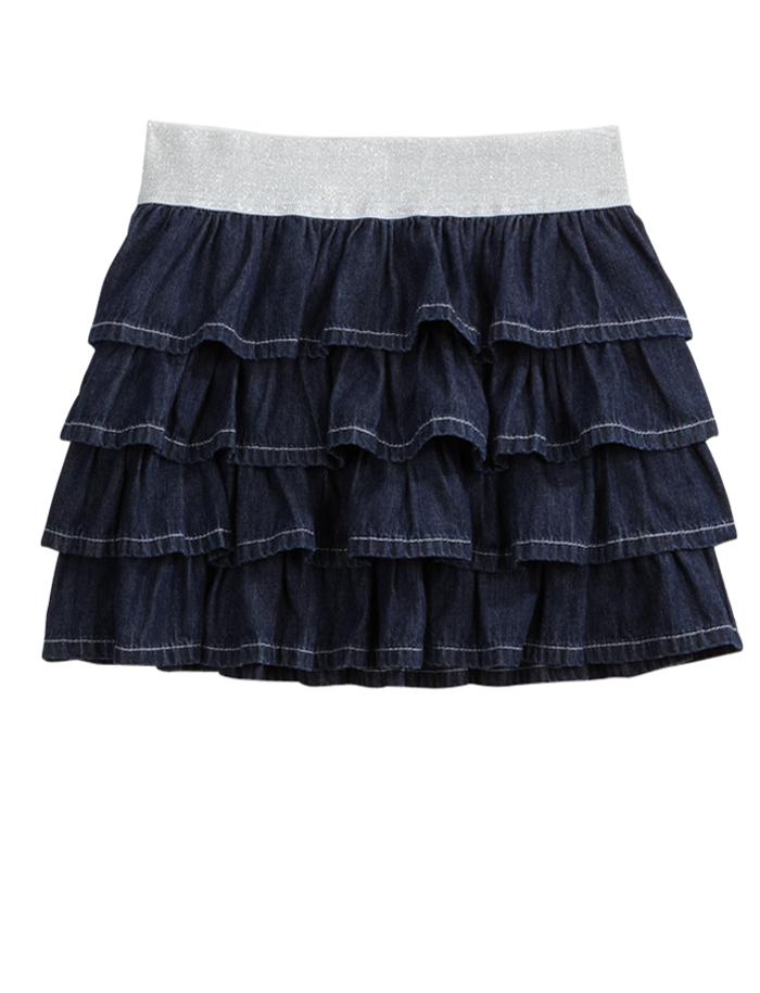 Girls Clothing | Skirts u0026 Skorts | Ruffle Denim Skirt | Shop Justice Size 12 slim maybe 10 ...