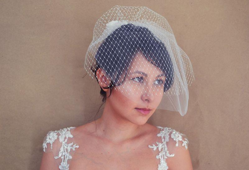 Shine Trim: Wedding DIY: Blusher Veil