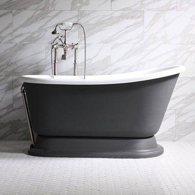 The Tub Studio Donata Coreacryl Swedish Slipper Pedestal Tub