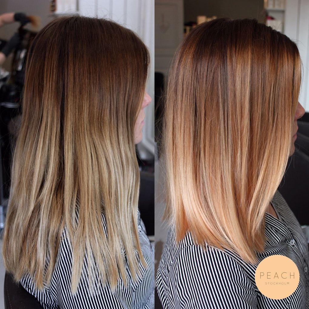 Photo of Lob hår med soft ombre i kopparblond / roséblond nyans