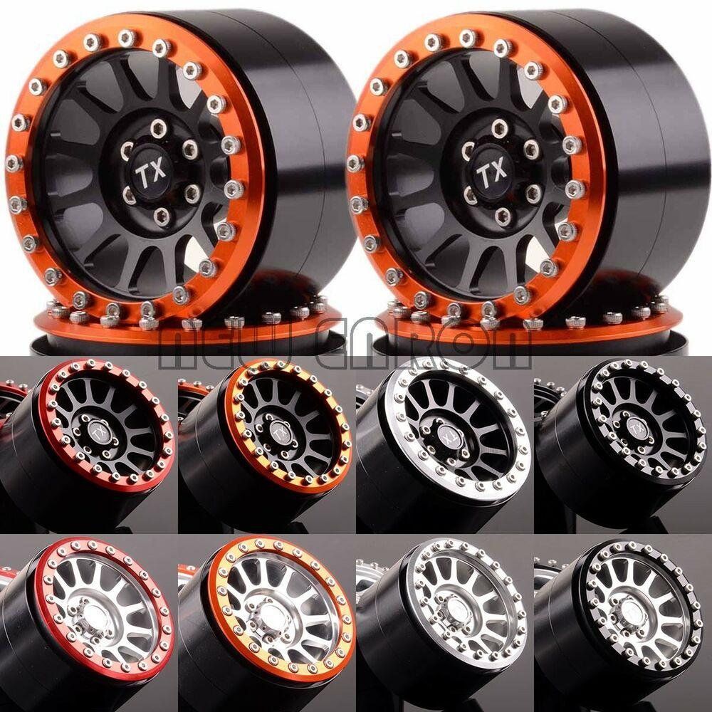 4pcs 12 Spokes Beadlock Wheels Aluminum 2 2 For Axial Yeti Wraith Rc Crawler Beadlock Wheels Rc Crawler Rc Rock Crawler