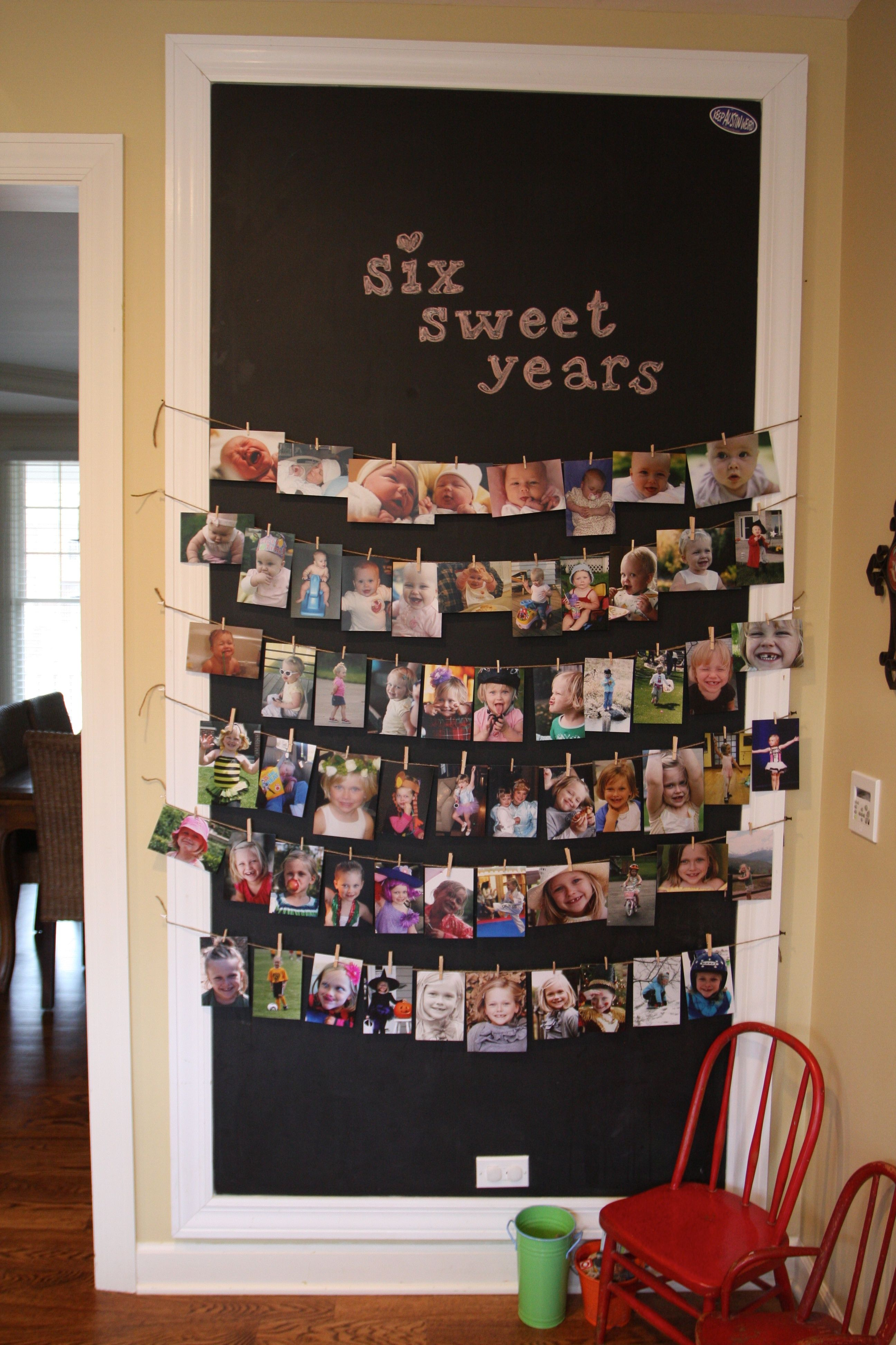 Memory Wall Dress It Up With A Big 3 On The Top And Use