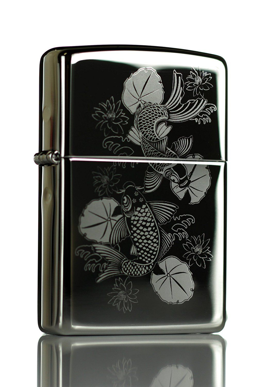 Amazon Com Japanese Koi High Polish Chrome Zippo Lighter Everything Else Isqueiro