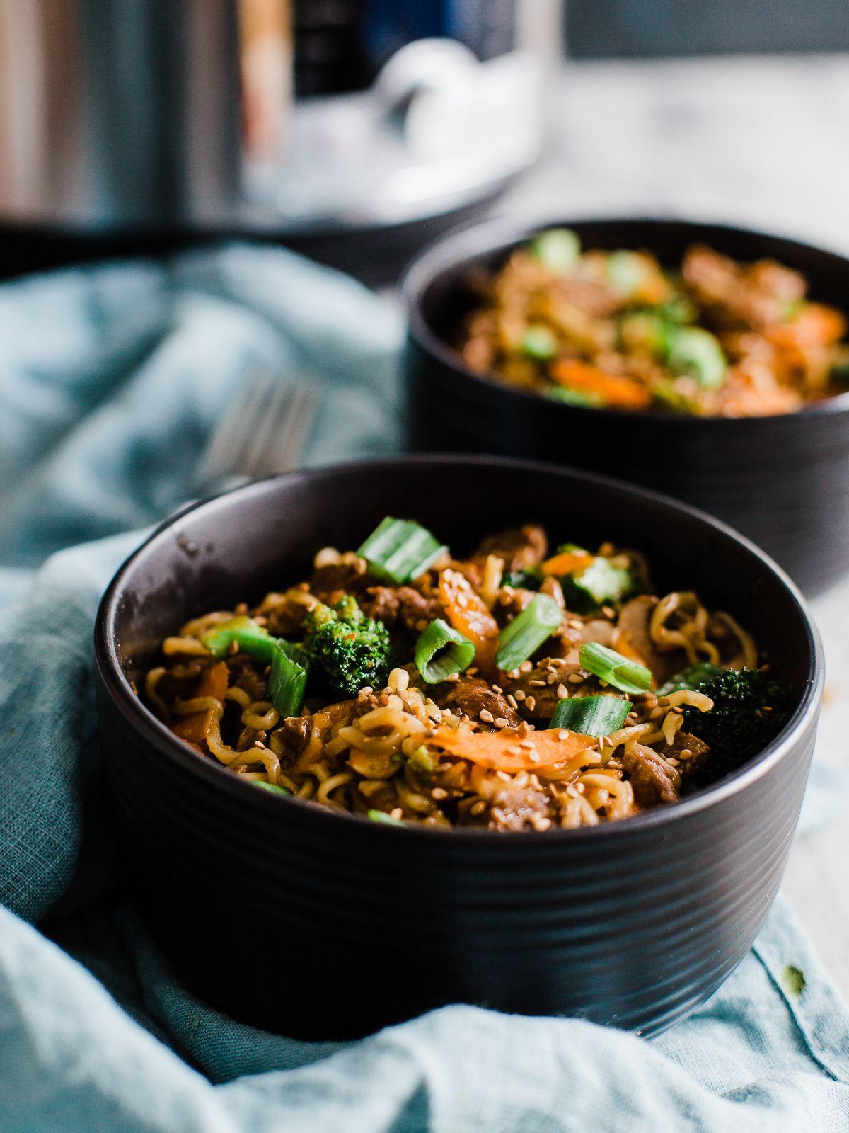 Instant Pot Mongolian Beef Ramen Bowl Recipe Beef Recipes