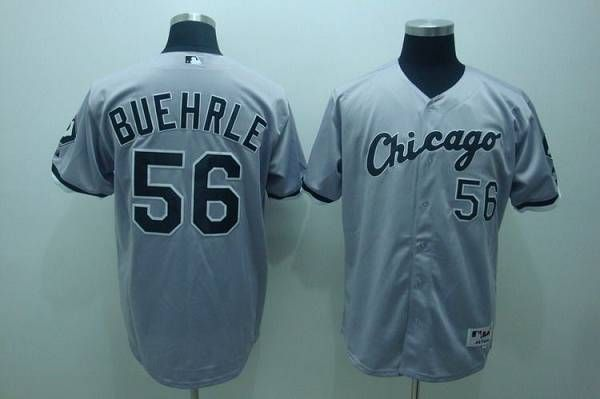 white sox 56 mark buehrle embroidered grey mlb jersey only 21.50usd