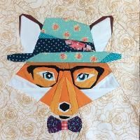 Quilting : Hipster Fox