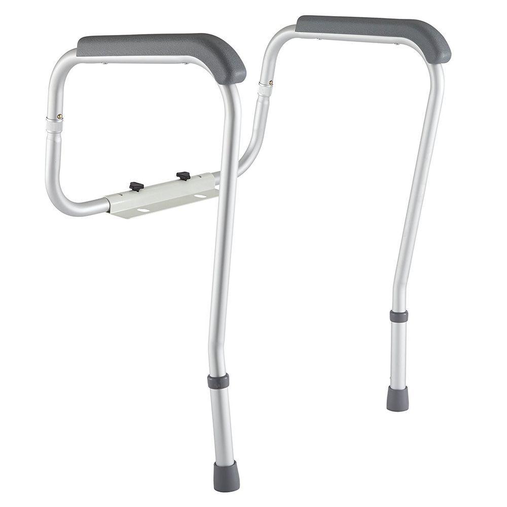 Grab bars adjustable toilet safety rail seat handicap assist elderly