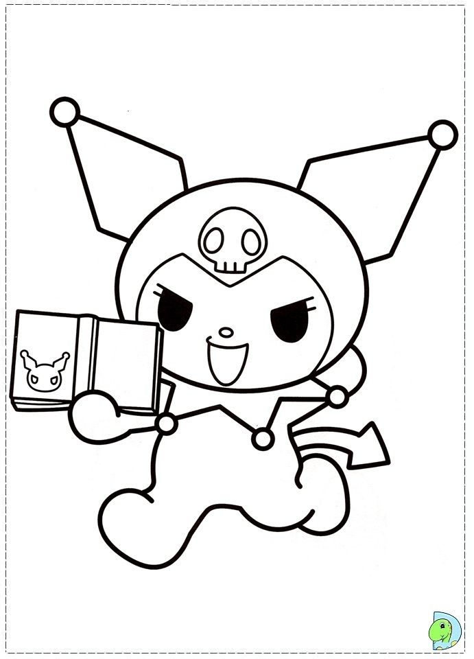 Hello Kitty And My Melody Coloring Pages : Kuromi coloring pages colour me pinterest hello