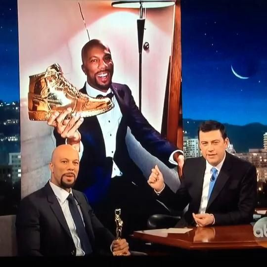 Thank you @common for the love on @jimmykimmel last night! It's such an honor to be associated such an amazing achievement as your Oscar win and thank you for sharing the story last night!! Thank you @jahajohnson for everything! #jimmykimmellive #msenna #common #sennamade