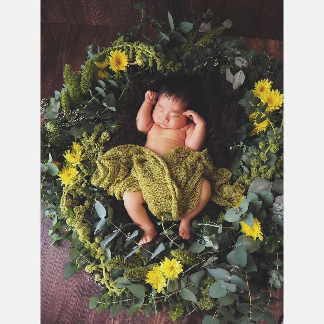 Newbornpohto 我が子のために 大きなリースを作る親バカ花屋に Kakogi Photo Create 花屋ぼたん 花屋 花のある暮らし 花 ニューボーンフォト ニューボーン Newborn Newbornbaby Newbornphoto 新生児 7月産まれ Newbornphot