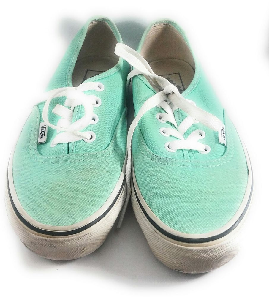 9e017a599a Womens Vans Shoes Mint Green Size 6 Off the Wall  VANS