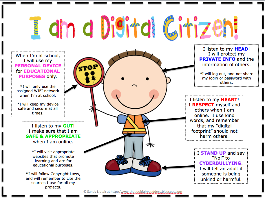 Love this poster to bring up digital citizenship with my students ...