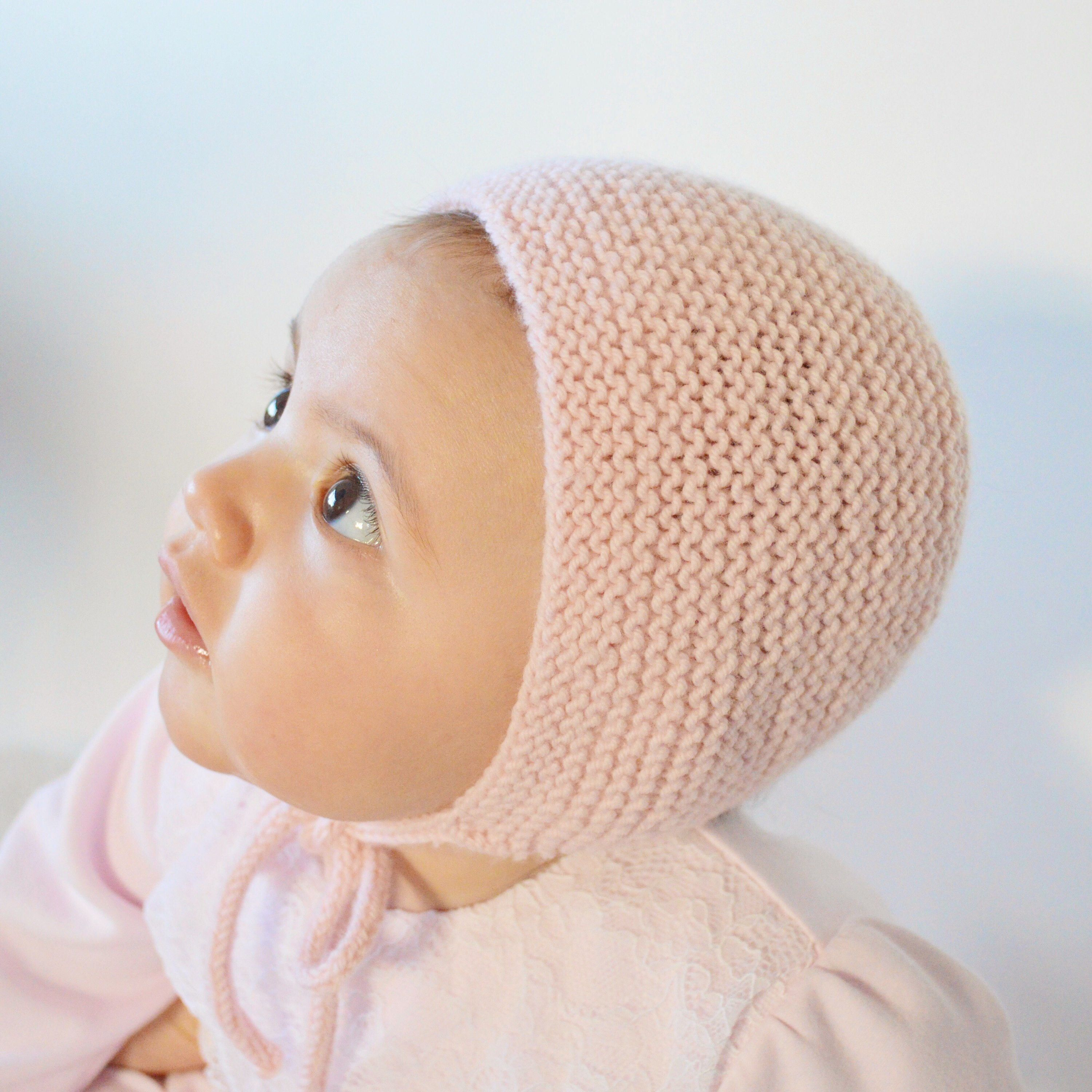 Baby Hat Knitting Pattern, Baby Bonnet, Easy Knit Baby Hat, Instant ...