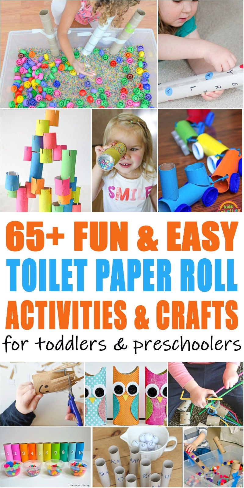 65 Easy Toilet Paper Roll Activities Happy Toddler Playtime Paper Towel Roll Crafts Toilet Paper Crafts Paper Roll Crafts
