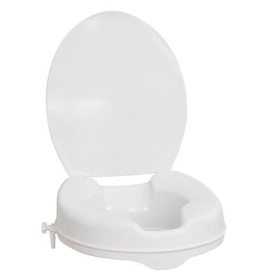 Aquasense Raised Toilet Seat With Lid White 2 In Toilet