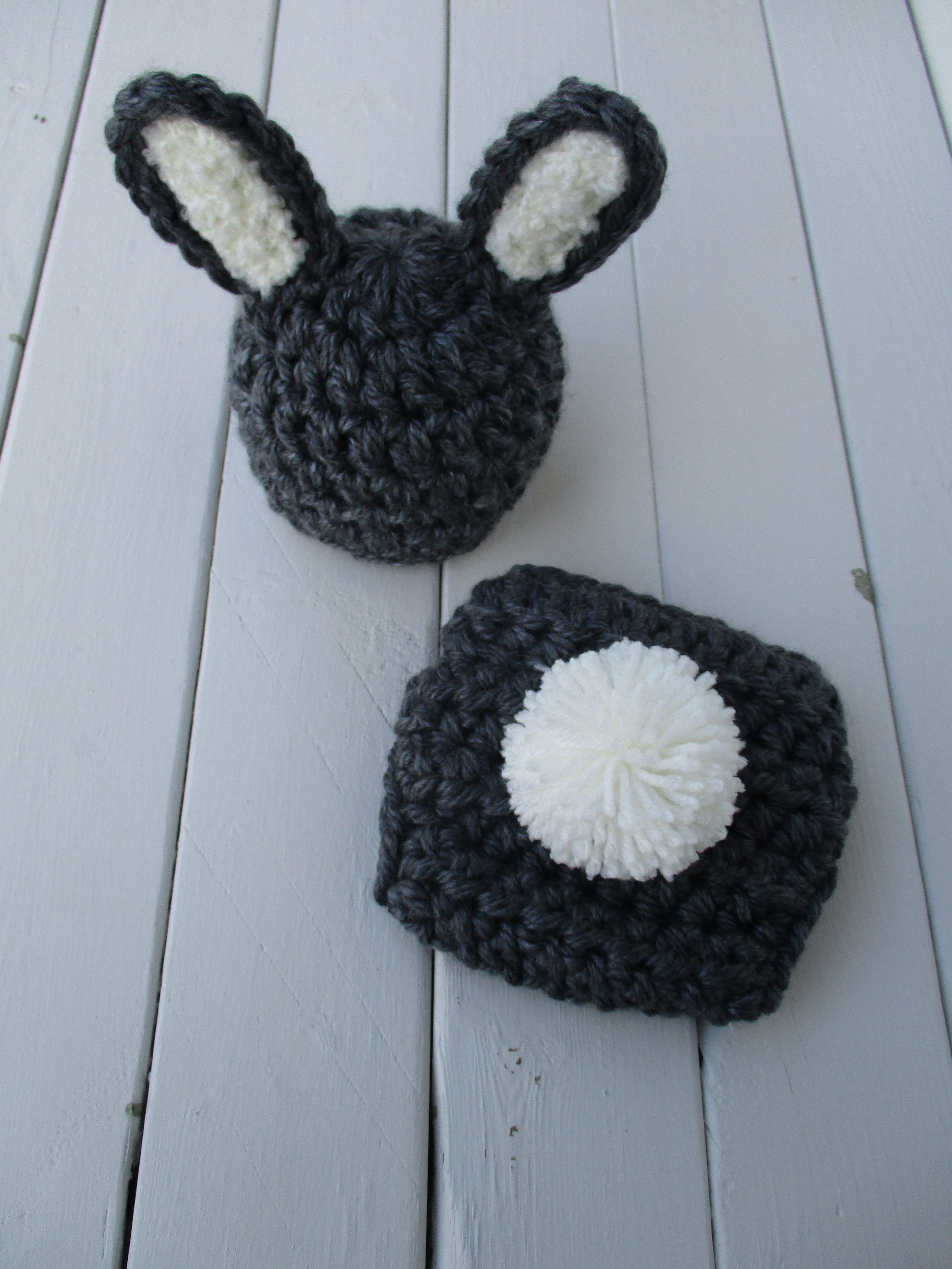 Baby Bunny Hat Crochet Bunny Set Crochet Baby Outfit Easter Bunny ...