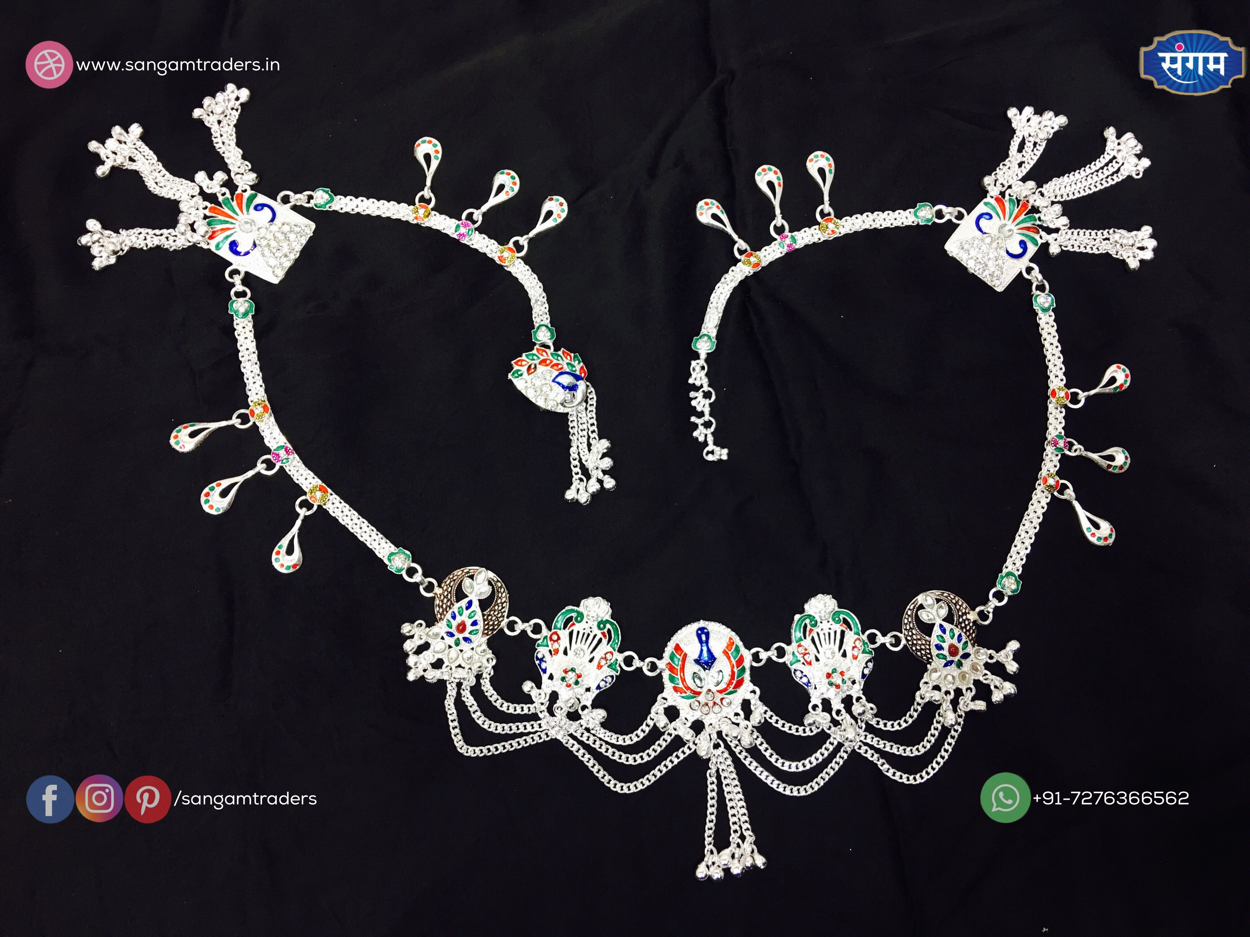 Details about  /Nose Pin Oxidized 925 Sterling Silver Indian Woman Fashion Handmade Jewelry