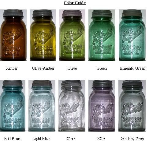 the 10 basic colors of bpm jars in 2l ball perfect mason embossed