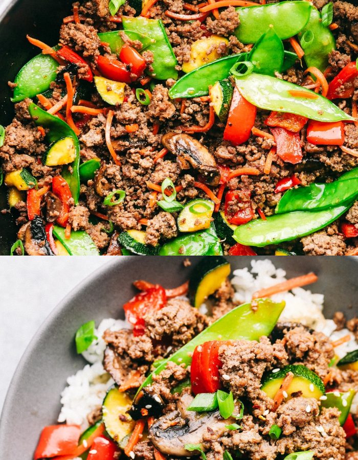 Korean Ground Beef Stir Fry Is Incredibly Easy To Make And Has The Best Flavor This Is A Recipe That My Beef Stir Fry Best Beef Recipes Ground Beef Stir Fry