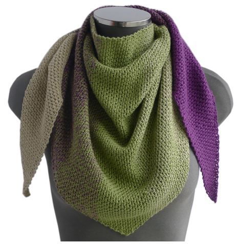 Free Crochet Pattern For A Triangle Scarf In Wendys Evolution