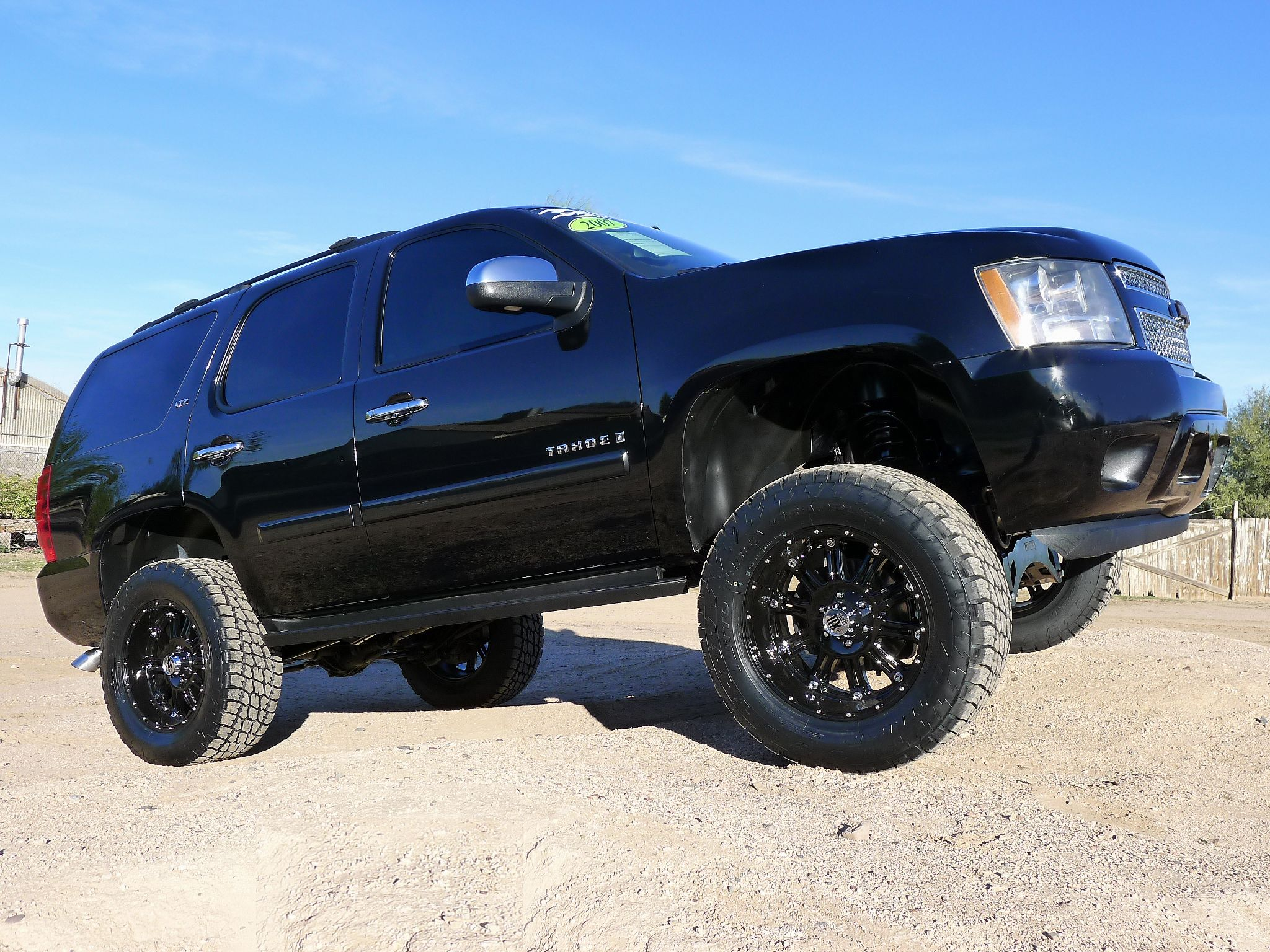 07 chevy tahoe ltz 4x4 zone lift kmc wheels toyo tires