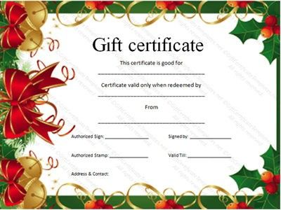 Download Free Gift Certificate Template And Personalize Your