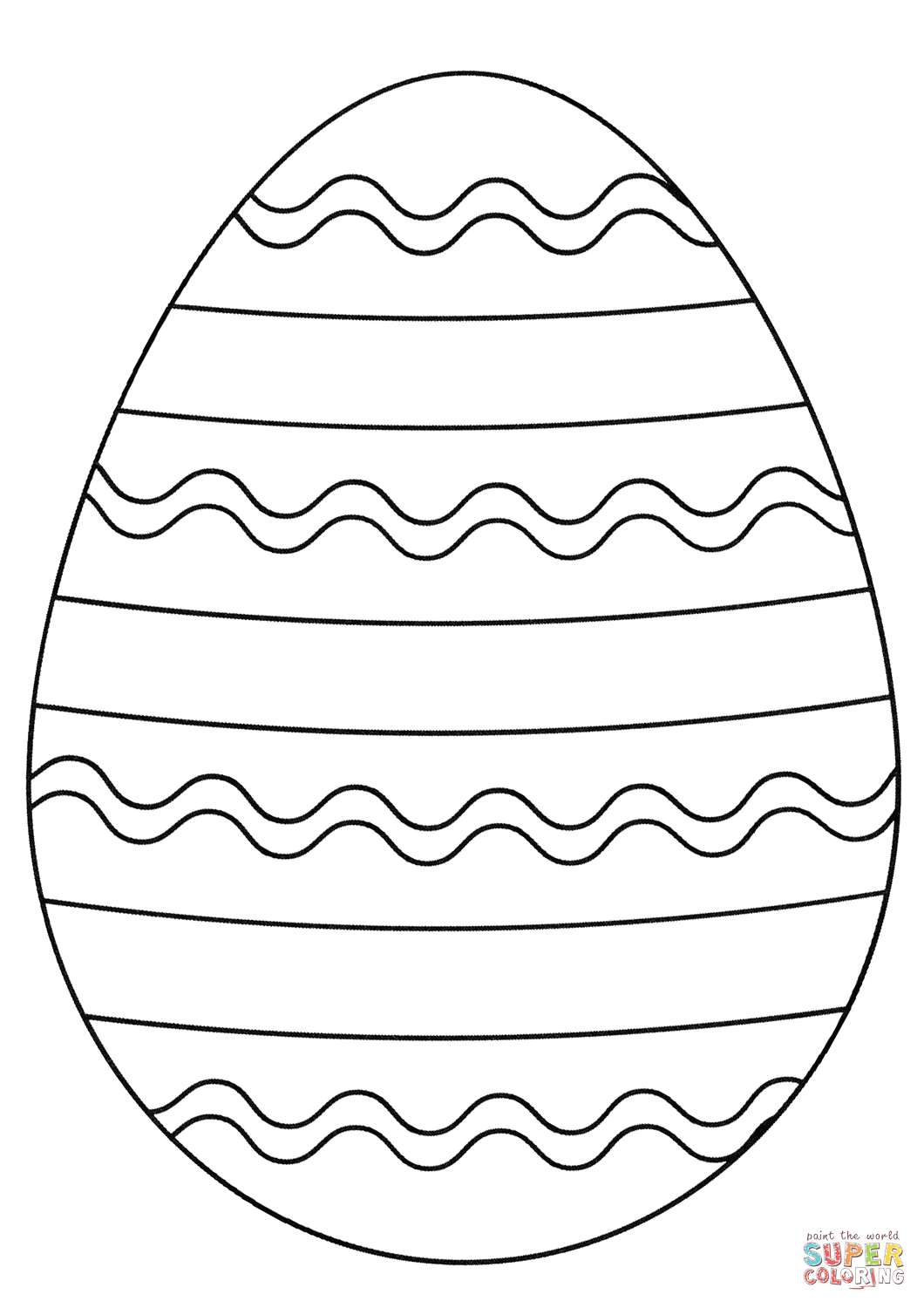Easter Egg Super Coloring Egg Coloring Page Coloring Easter Eggs Easter Egg Coloring Pages