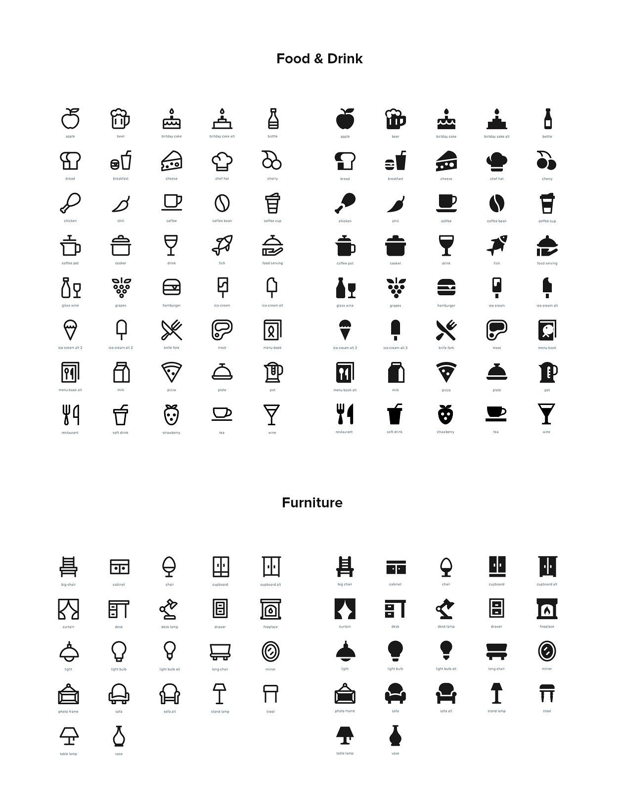 2 500 Line And Solid Icons Icon Html Presentation All Icon