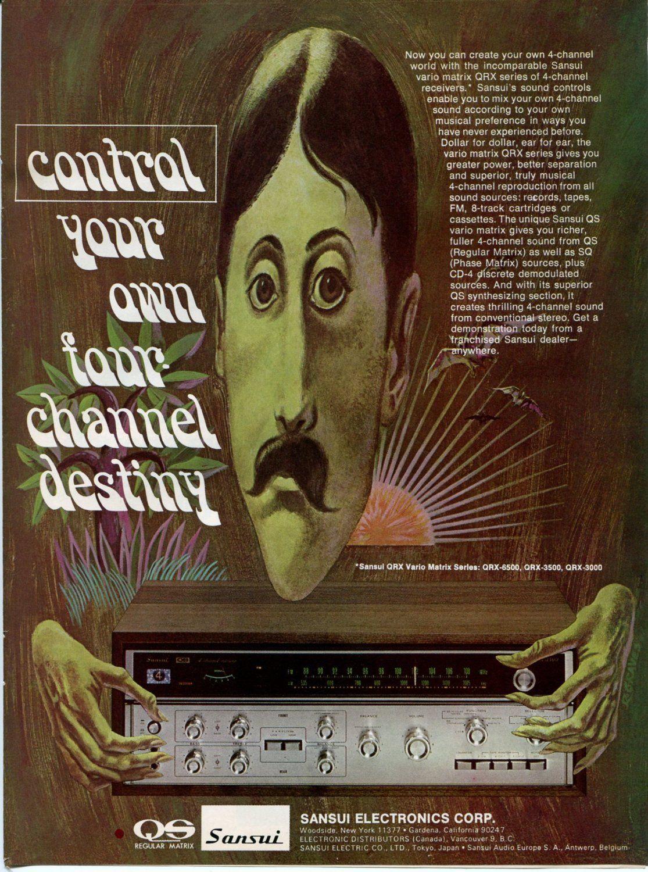 Amazon com: 1973 SANSUI Four Channel Receiver Vintage Retro Original