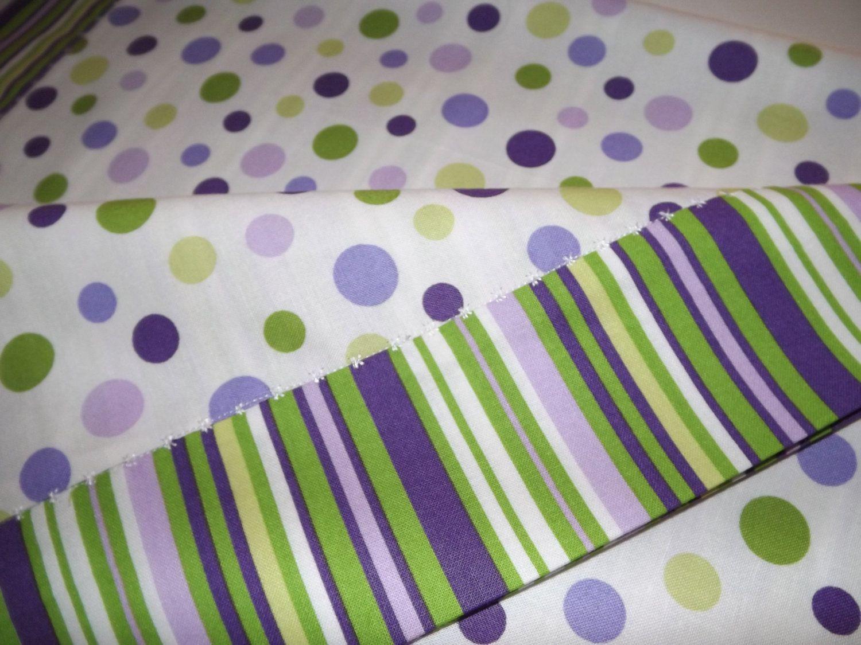 Purple And Green Nursery Bedding