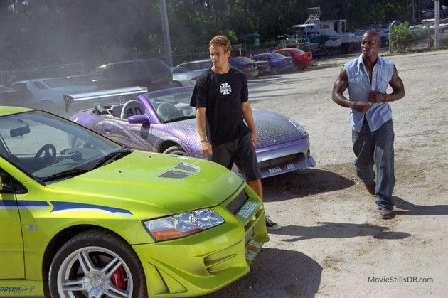 2 Fast 2 Furious publicity still of Paul Walker & Tyrese Gibson ...