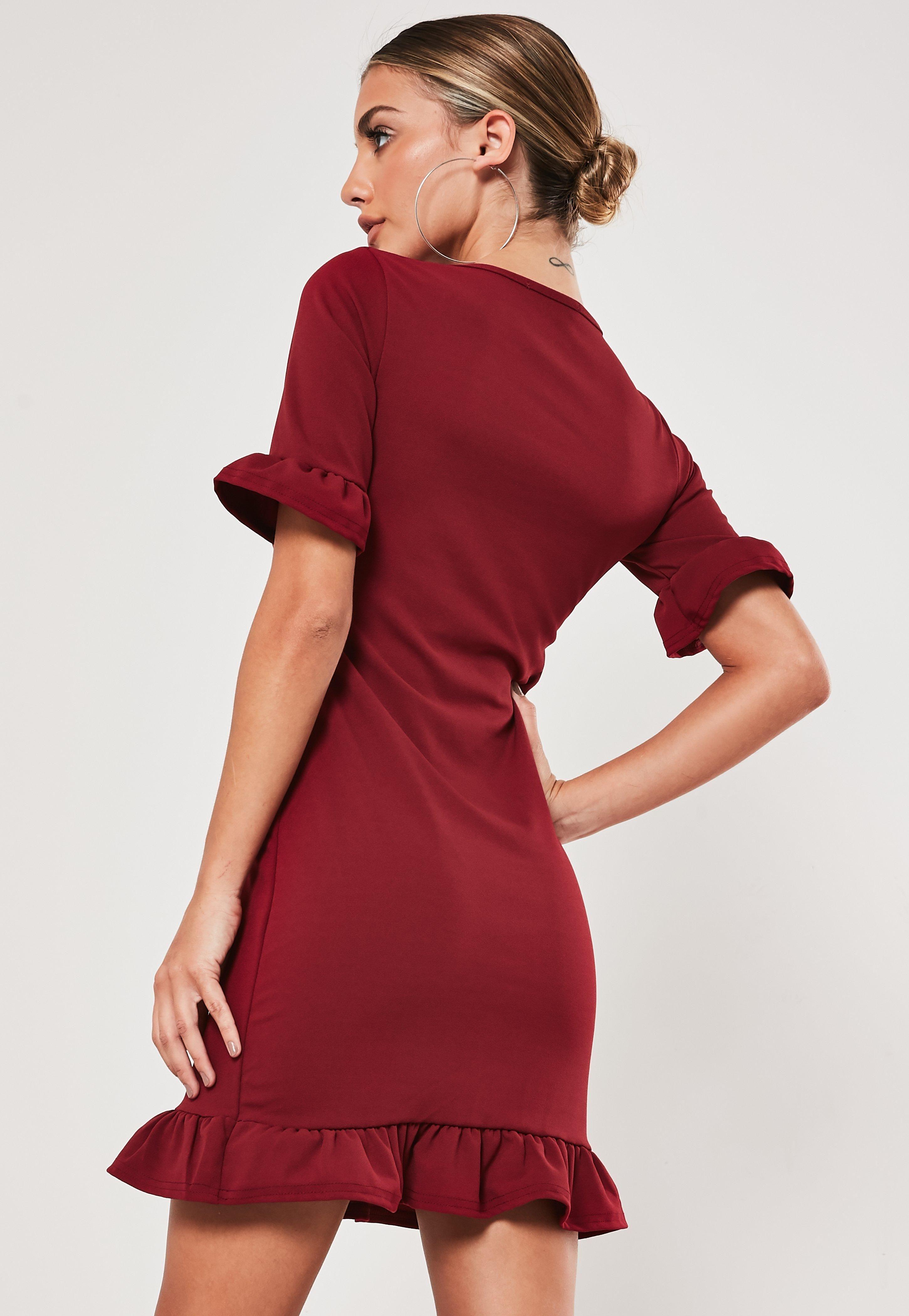 Burgundy Frill Short Sleeve Shift Dress Sponsored Short Sponsored Frill Burgundy Short Sleeve Shift Dress Womens Dresses Dress Drop [ 4200 x 2900 Pixel ]