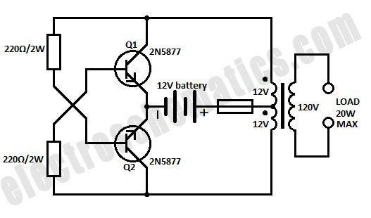 12v dc 120v ac inverter circuit