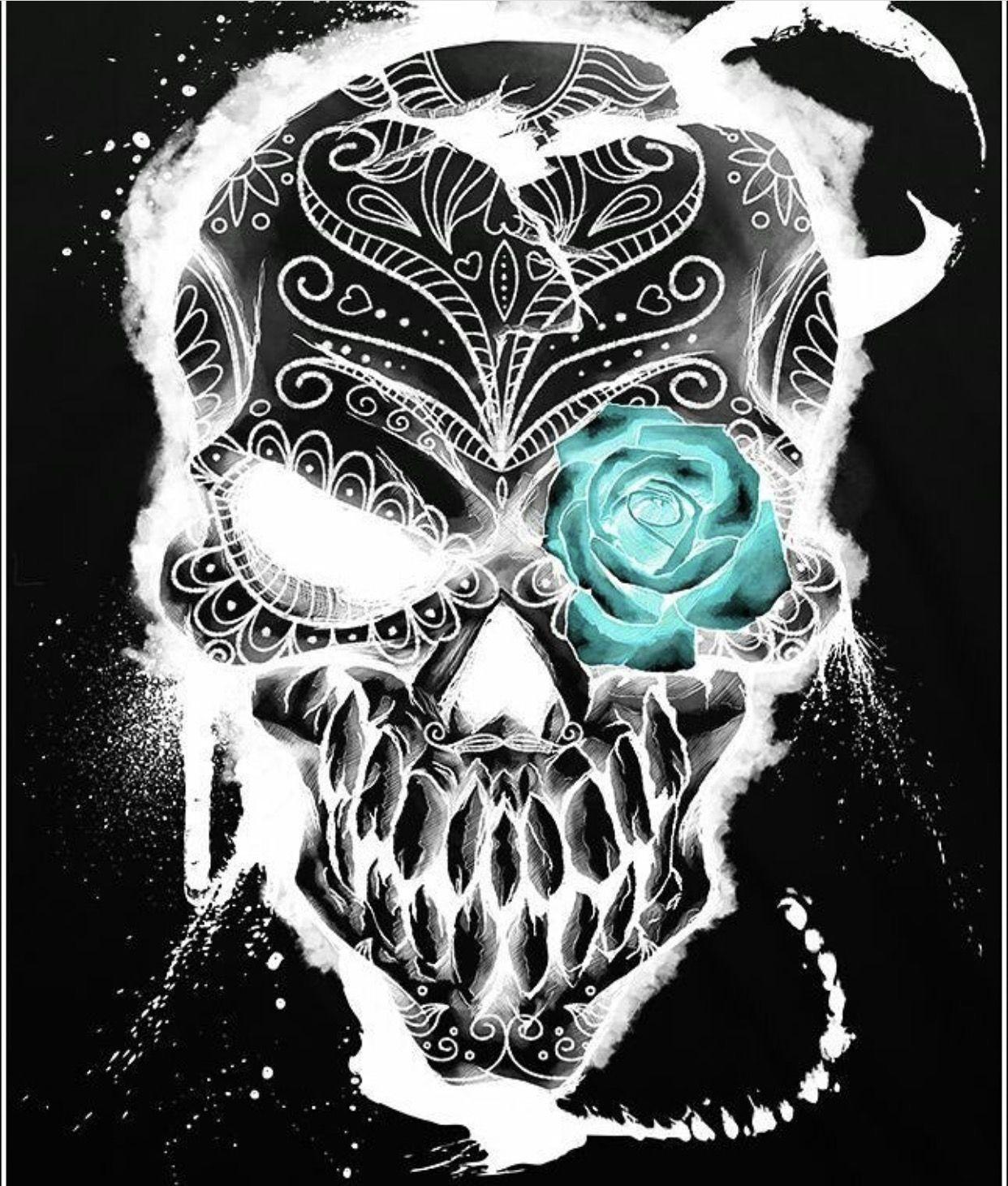 Pin von Mella Melmol auf Skull | Pinterest | Tattoo ideen, Schädel ...