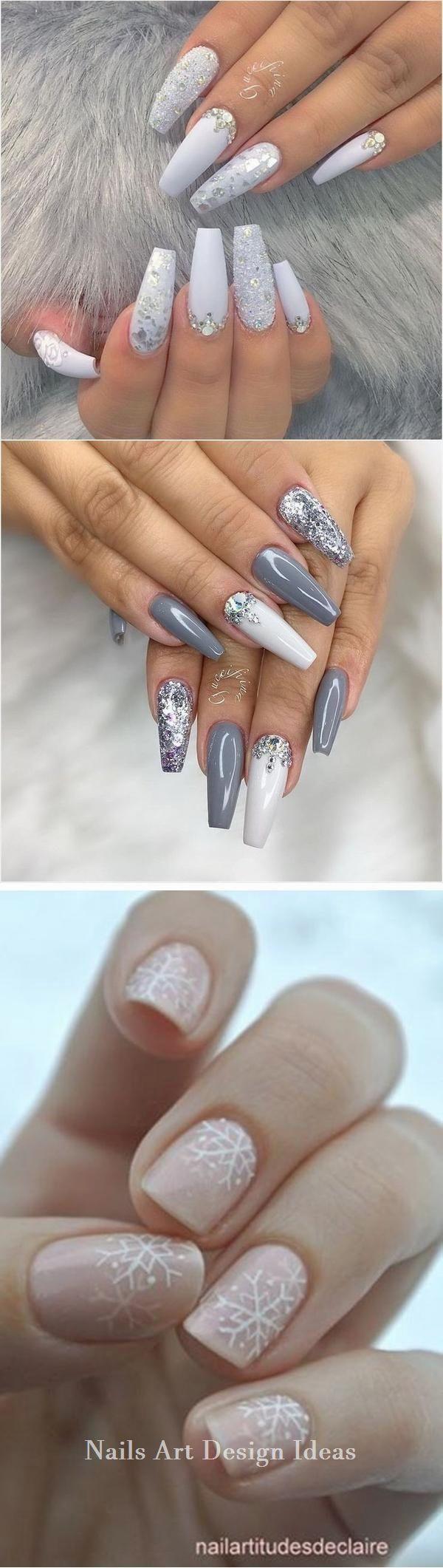White Nails And Artistic Nail Styles Nailsart Nailscraft White Nail Art White Nails Nails