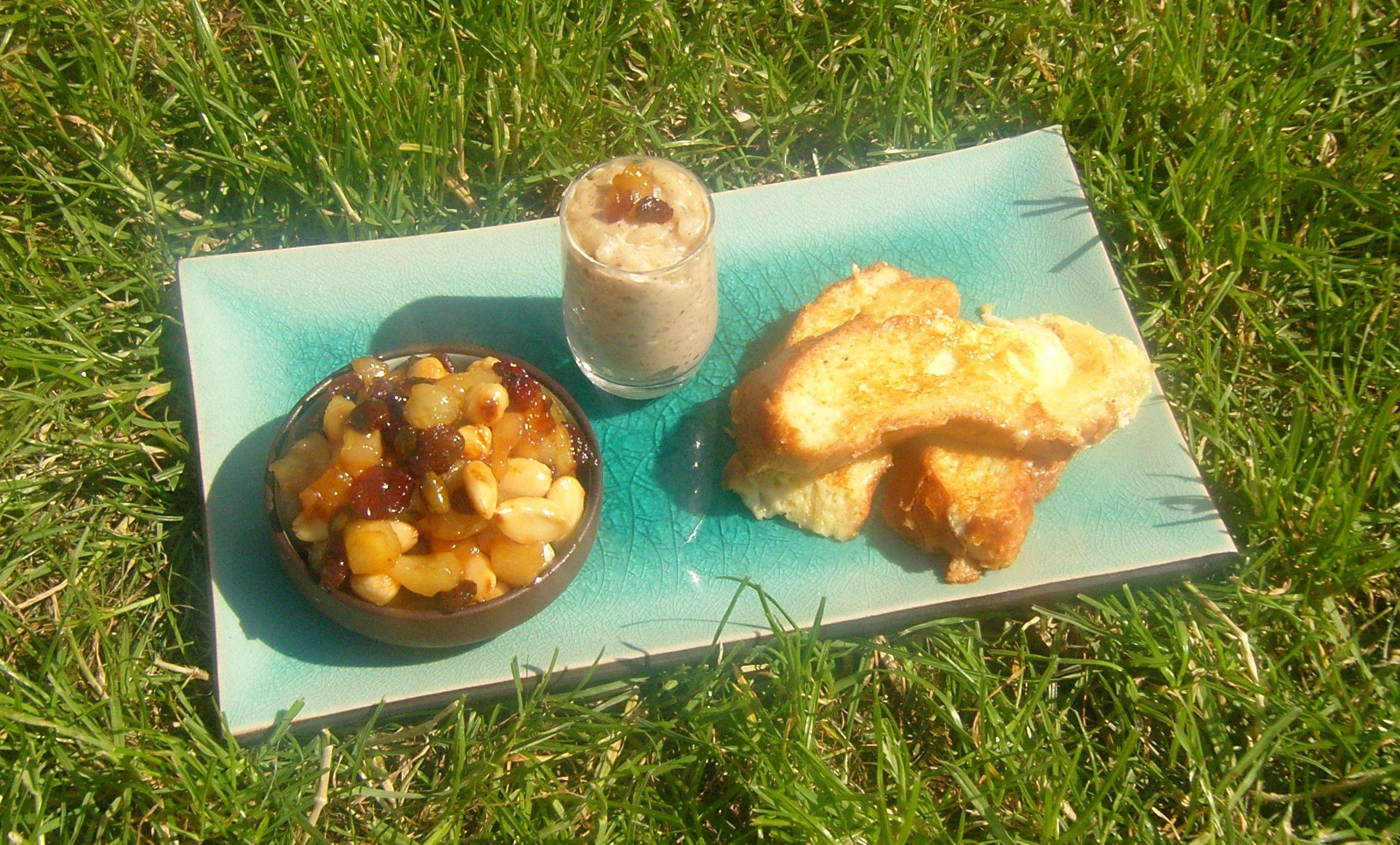 Que faire avec un reste de #brioche #antigaspi ? Riz au lait revisité brioche façon pain perdu etpoelée de fruits secs et poire