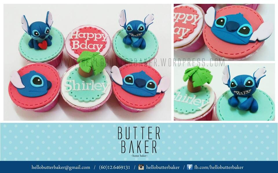 One Dozen Disney/'s Lilo and Stitch Cupcake Toppers Edible Image Stitch
